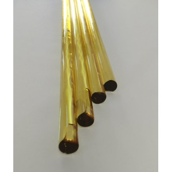 Borosilicate Light Yellow Rod 10mm