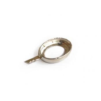 Oval Taş Yuvası Gümüş(10mmx14mmx3.2mm)