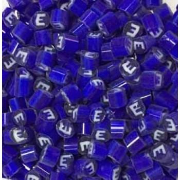 Millefiori E Letter 4-5mm