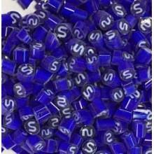 Millefiori S Letter 4-5mm