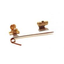 Bronze Brooch pin fixing agent
