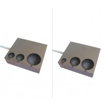 Graphite Mold with 6 holes 4.8X7.4X2cm